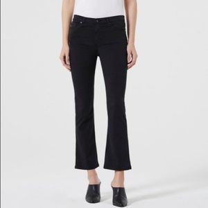 NWOT Adriano Goldschmied Jodie black cropped jeans